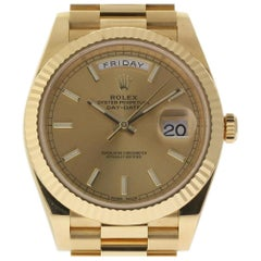Rolex Day-Date 228238, White Dial, Certified and Warranty