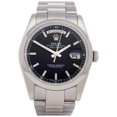 Rolex Day-Date 36 118209 Unisex White Gold Watch