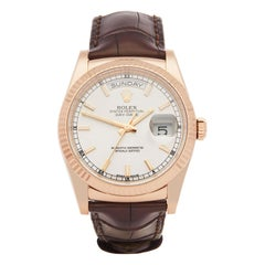 Rolex Day-Date 36 18 Karat Rose Gold 118135