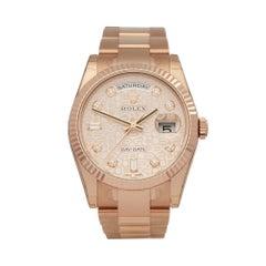Rolex Day-Date 36 18 Karat Rose Gold 118235