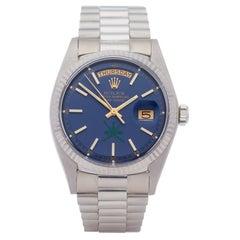 Rolex Day-Date 36 1803/9 Unisex White Gold Khanjar' Dial Watch