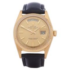 Rolex Day-Date 36 1803 Men Yellow Gold Pie-Pan Dial Watch
