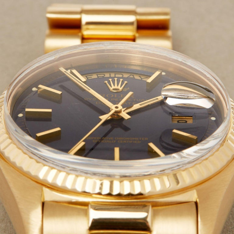 Rolex Day-Date 36 1803 Unisex Yellow Gold Watch For Sale 6