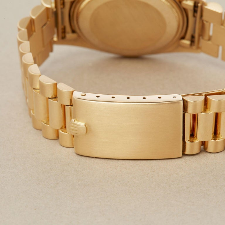 Rolex Day-Date 36 1803 Unisex Yellow Gold Watch For Sale 7