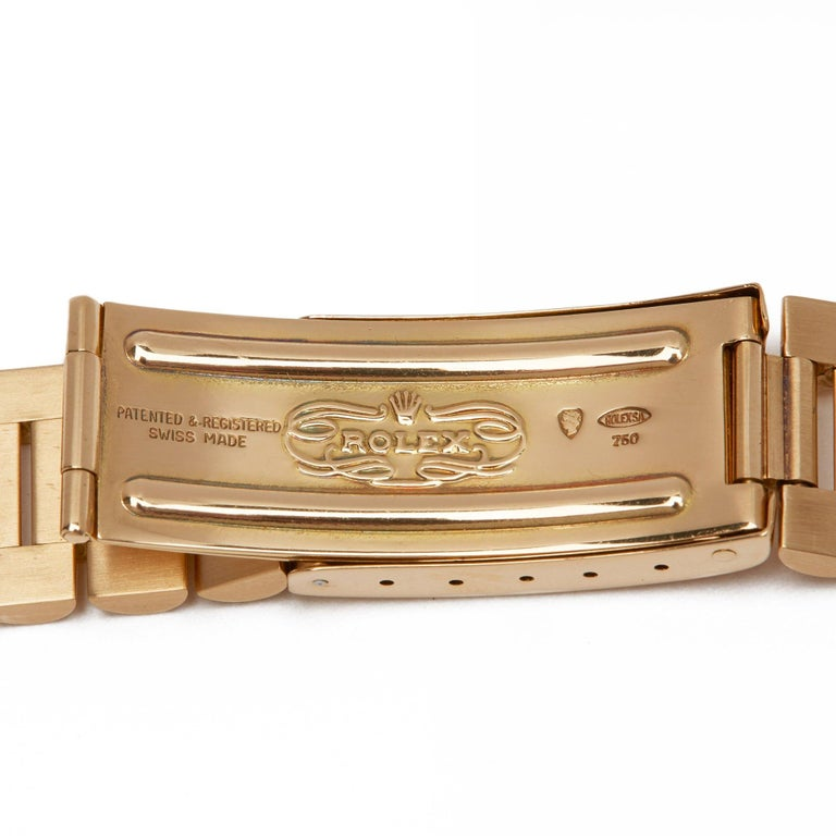 Rolex Day-Date 36 1803 Unisex Yellow Gold Watch For Sale 9