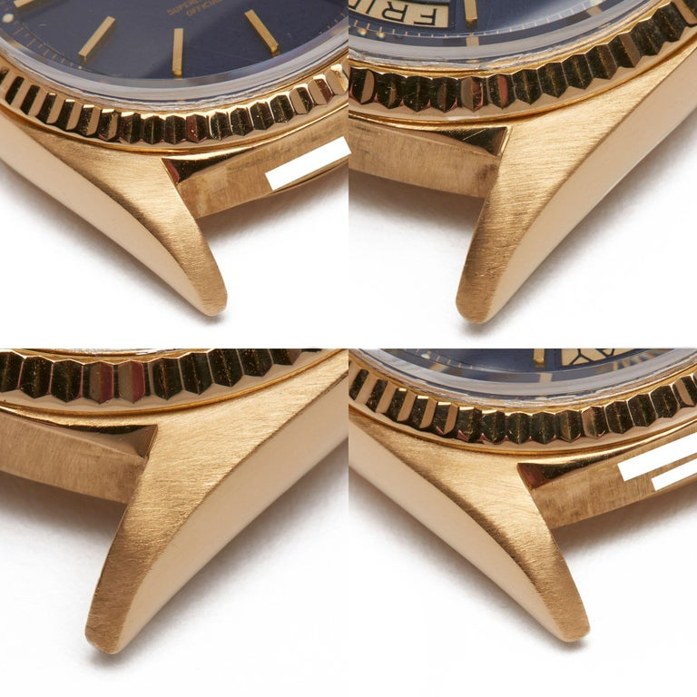 Rolex Day-Date 36 1803 Unisex Yellow Gold Watch For Sale 11