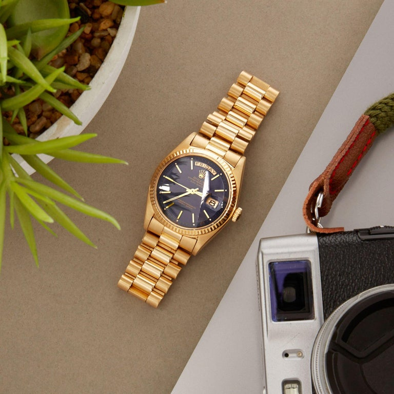 Rolex Day-Date 36 1803 Unisex Yellow Gold Watch For Sale 12