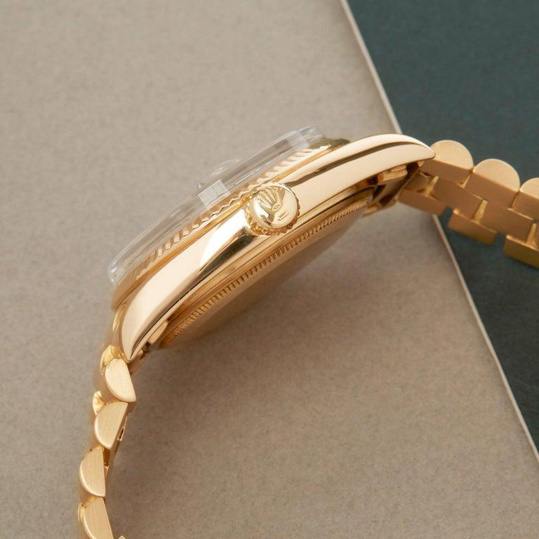 Rolex Day-Date 36 1803 Unisex Yellow Gold Watch In Good Condition For Sale In Bishops Stortford, Hertfordshire