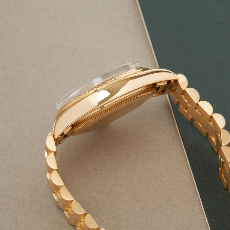 Women's or Men's Rolex Day-Date 36 1803 Unisex Yellow Gold Watch For Sale