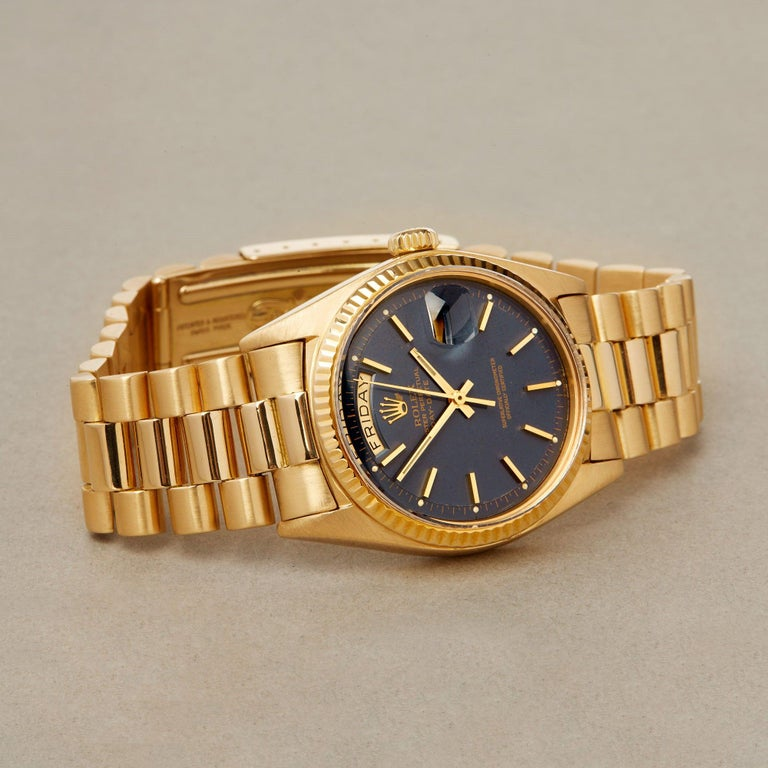 Rolex Day-Date 36 1803 Unisex Yellow Gold Watch For Sale 1
