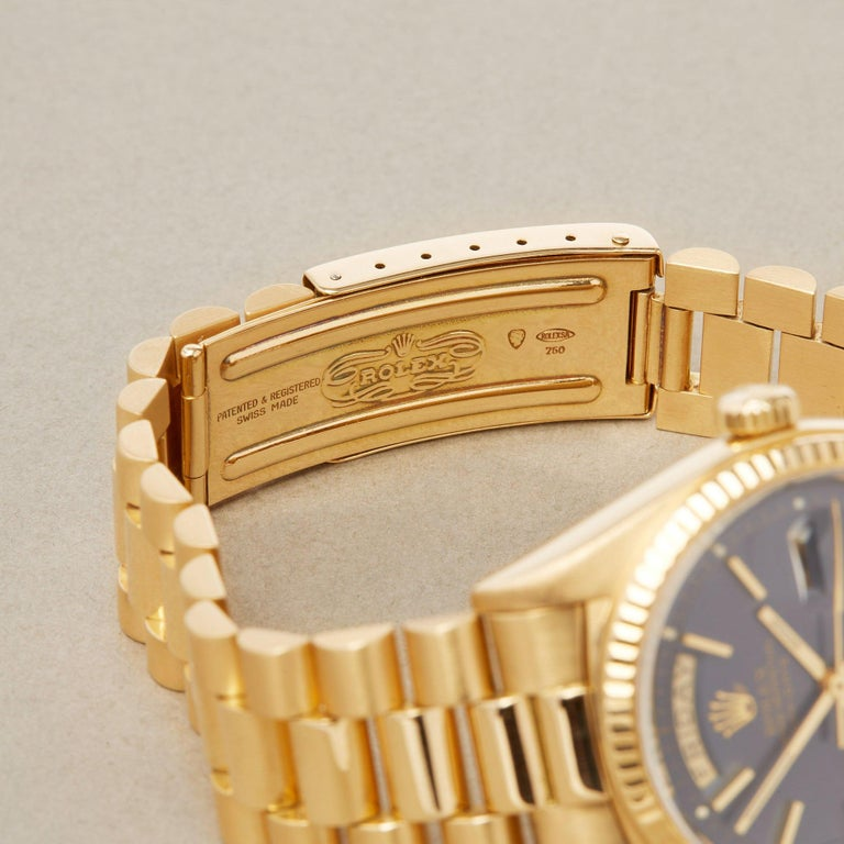 Rolex Day-Date 36 1803 Unisex Yellow Gold Watch For Sale 2