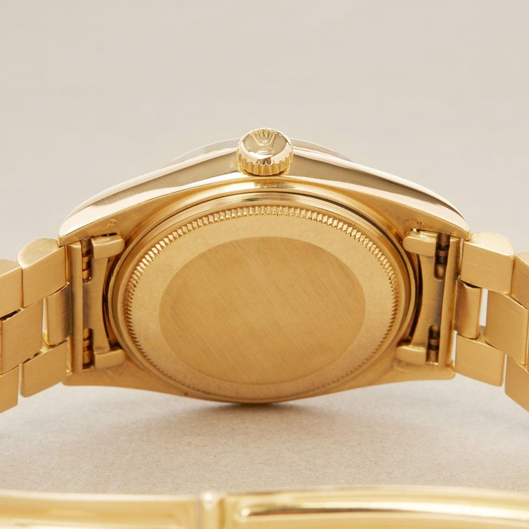Rolex Day-Date 36 1803 Unisex Yellow Gold Watch For Sale 3