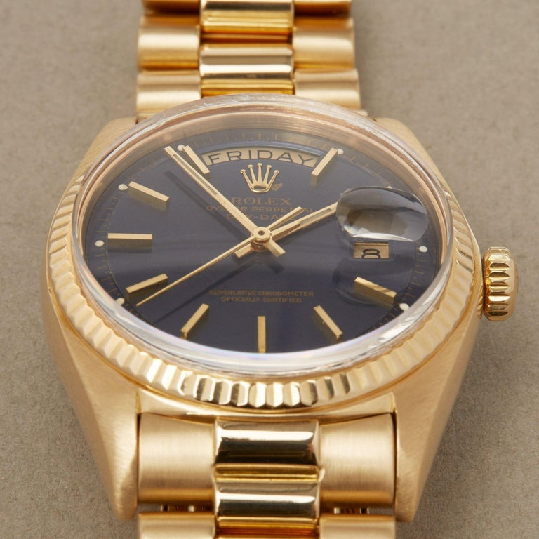 Rolex Day-Date 36 1803 Unisex Yellow Gold Watch For Sale 4