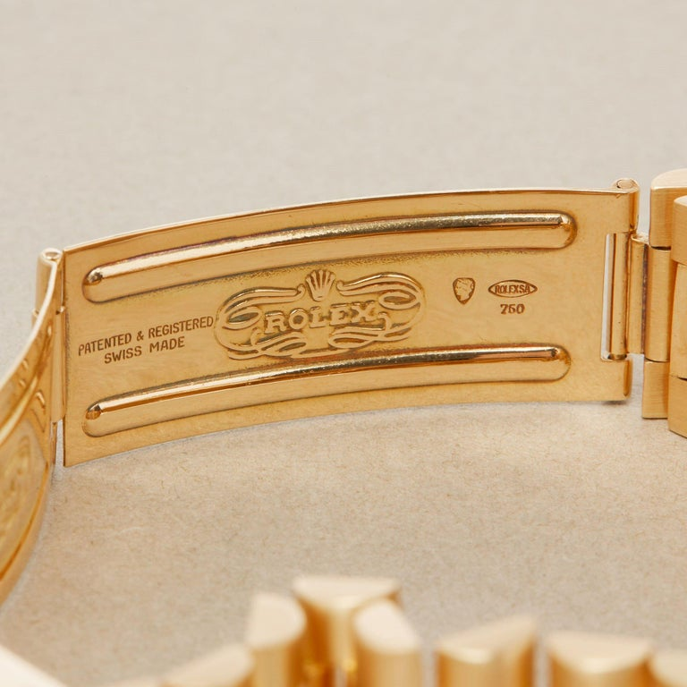 Rolex Day-Date 36 1803 Unisex Yellow Gold Watch For Sale 5