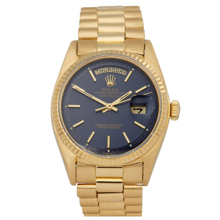 Rolex Day-Date 36 1803 Unisex Yellow Gold Watch For Sale