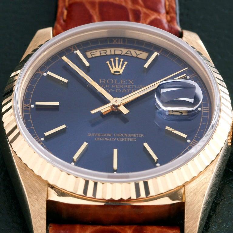 Rolex Day-Date 36 18038 Men's Yellow Gold Watch In Excellent Condition In Bishops Stortford, Hertfordshire