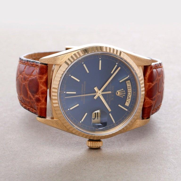 Rolex Day-Date 36 18038 Men's Yellow Gold Watch 2