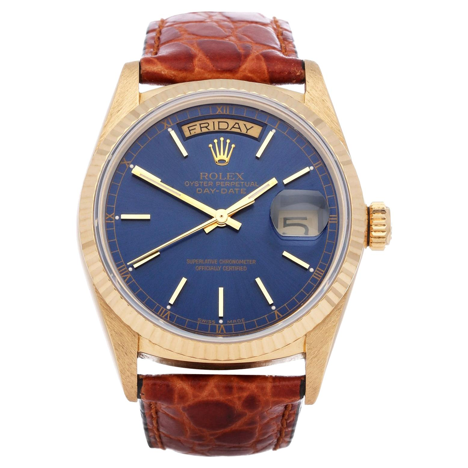 Rolex Day-Date 36 18038 Men's Yellow Gold Watch