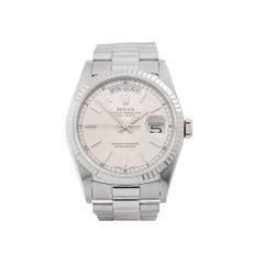 Rolex Day Date 36 18 Karat White Gold Unisex 18239
