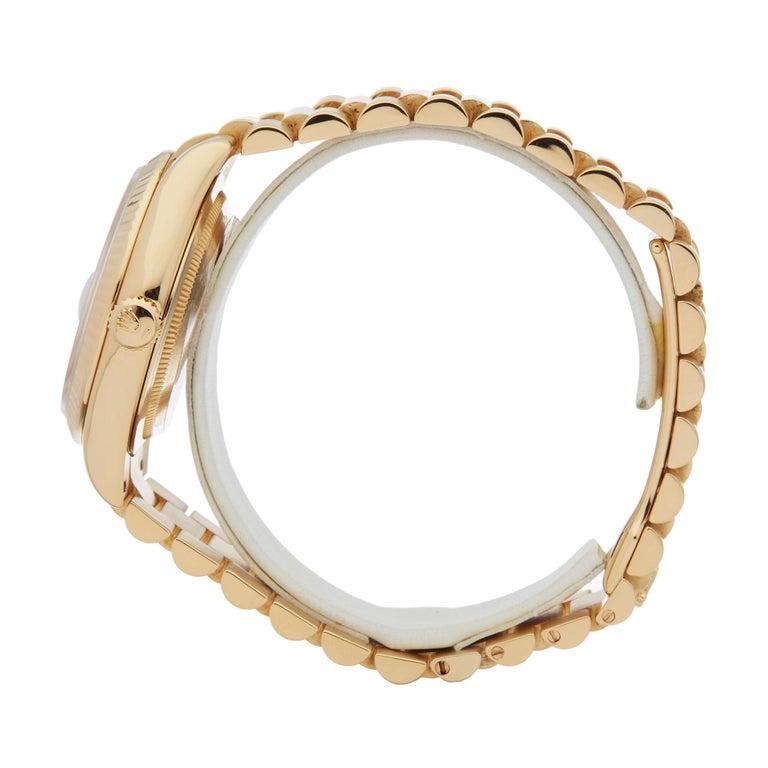 Men's Rolex Day-Date 36 18 Karat Yellow Gold 118238 For Sale