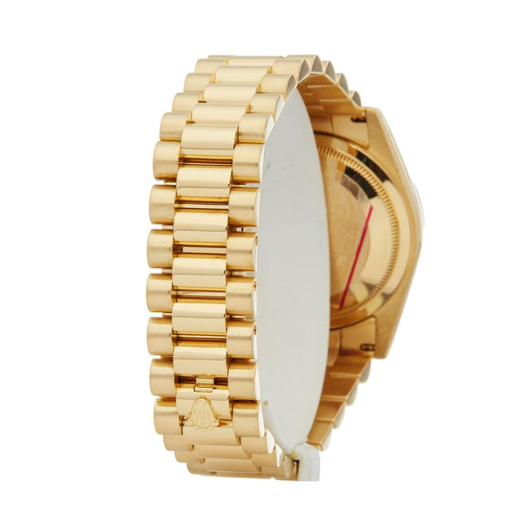 Rolex Day-Date 36 18 Karat Yellow Gold 118238 For Sale 1