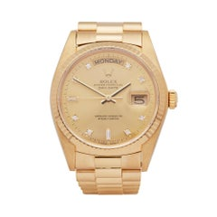 Rolex Day Date 36 18 Karat Yellow Gold 18038