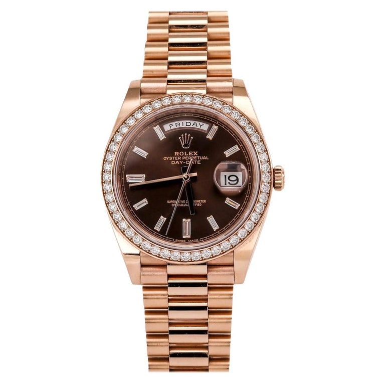 Rolex Day-Date 40 18 Karat Rose Gold '228345' For Sale