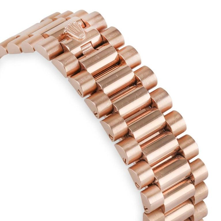 Women's or Men's Rolex Day-Date 40 18 Karat Rose Gold '228345' For Sale