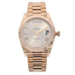 Rolex Day-Date 40 18K Rose Gold Sundust Roman Dial Automatic Men's Watch 228235