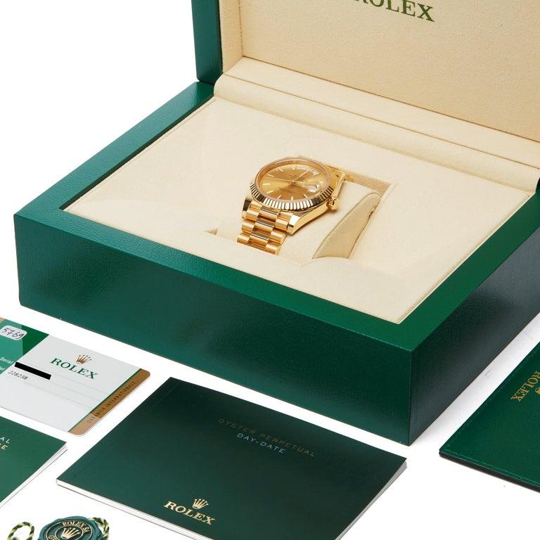 Rolex Day-Date 40 228238 Men's Yellow Gold Unworn Watch For Sale 7