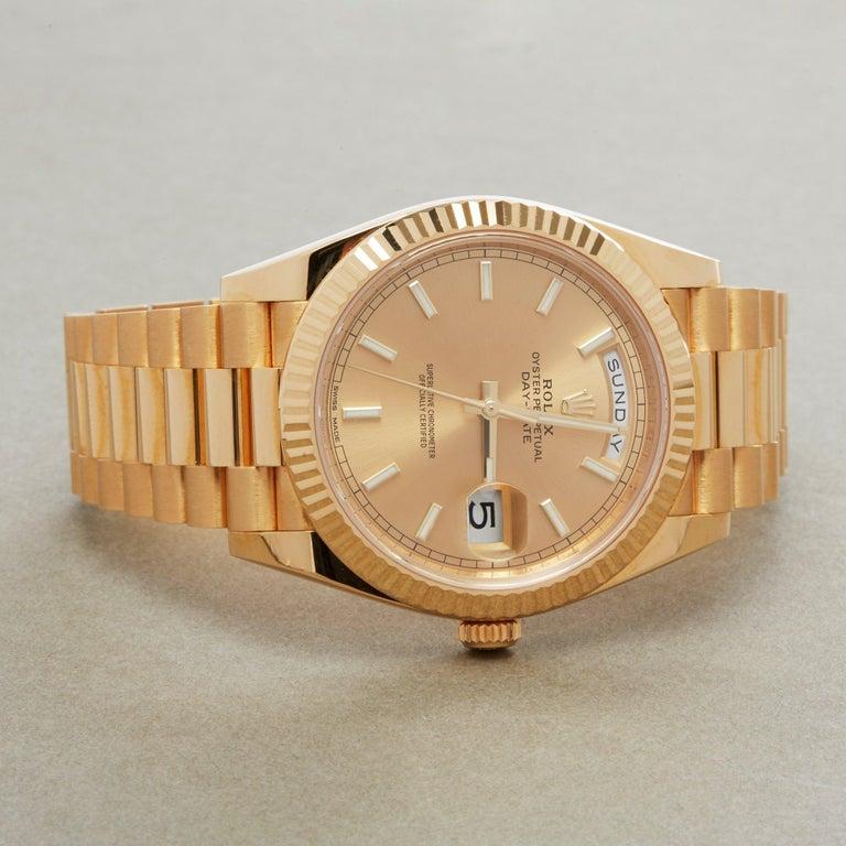 Rolex Day-Date 40 228238 Men's Yellow Gold Unworn Watch For Sale 1