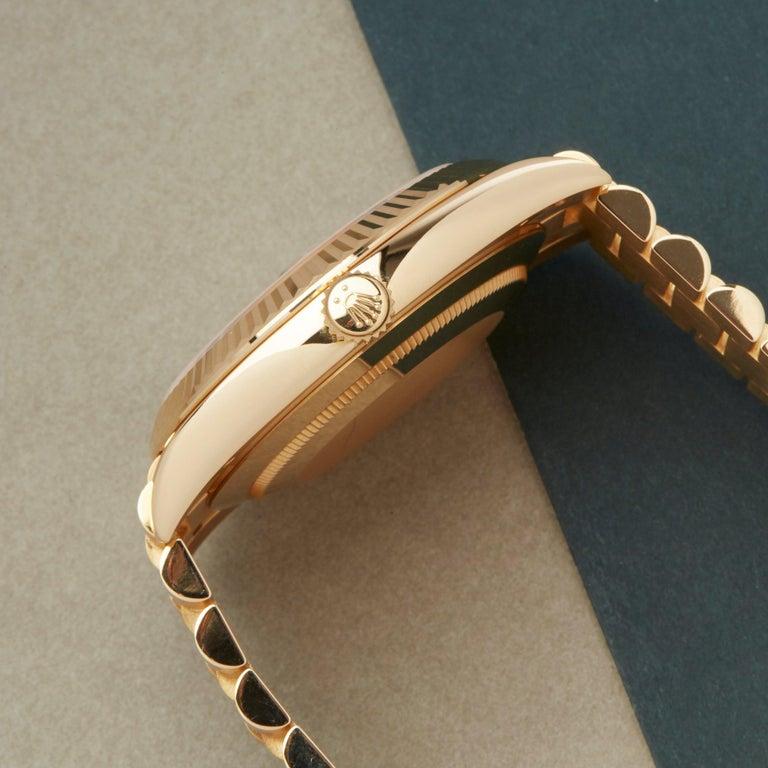 Rolex Day-Date 40 228238 Men's Yellow Gold Unworn Watch For Sale 2