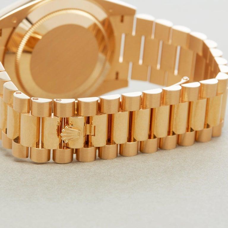 Rolex Day-Date 40 228238 Men's Yellow Gold Unworn Watch For Sale 5