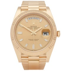 Rolex Day-Date 40 228238 Men's Yellow Gold Baguette Diamond Dial Watch