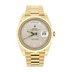 Rolex Day-Date 40 Diagonal Motif Dial Yellow Gold Automatic Men's Watch 228238