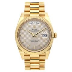 Rolex Day-Date 40 Diagonal Motif Dial Yellow Gold Automatic Men's Watch 228238