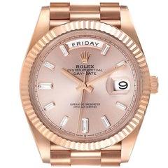 Rolex Day-Date 40 President Rose Gold Sundust Dial Watch 228235 Unworn