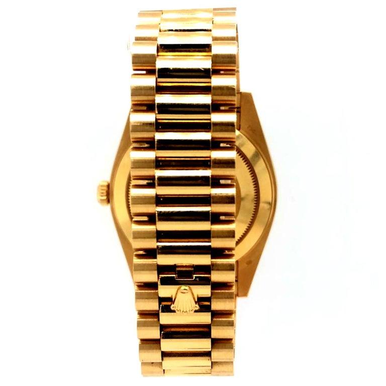 Rolex Day-Date 40 Silver Motif Dial 18K Yellow Gold President Men's Watch 228238 1