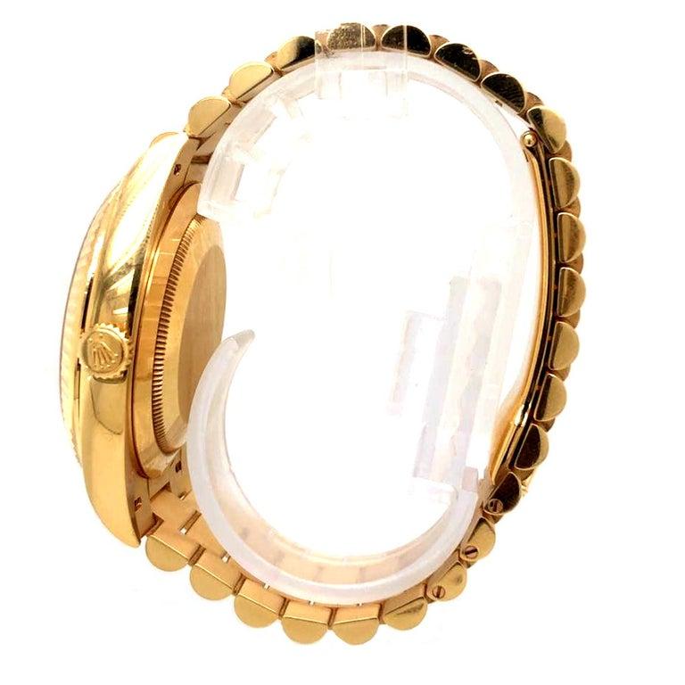 Rolex Day-Date 40 Silver Motif Dial 18K Yellow Gold President Men's Watch 228238 2
