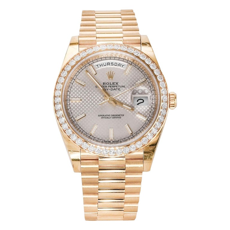 Rolex Day-Date 40 Yellow Gold '228348RBR' For Sale