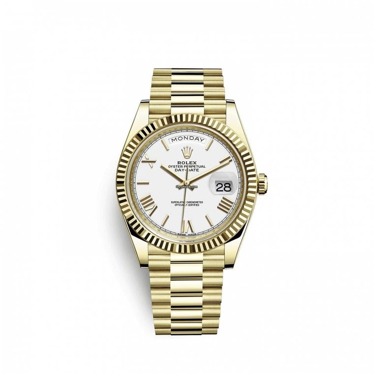Rolex Day-Date Yellow Gold, 228238-0042 In New Condition For Sale In Cheyenne, WY