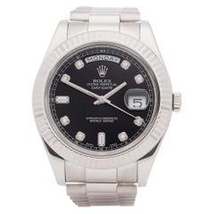 Rolex Day-Date 41 218239 Men White Gold 18K Watch