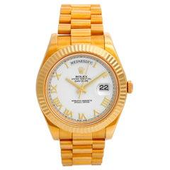 Rolex Day-Date II 18 Karat Yellow Gold Men's President Watch 218238