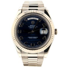Rolex Day-Date II 218239, Millimeters Blue Dial, Certified and Warranty