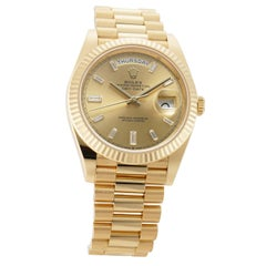 Rolex Day-Date II 228238, Champagne Dial, Certified and Warranty