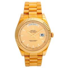Rolex Day-Date II President 18 Karat Yellow Gold Men's Watch 218238