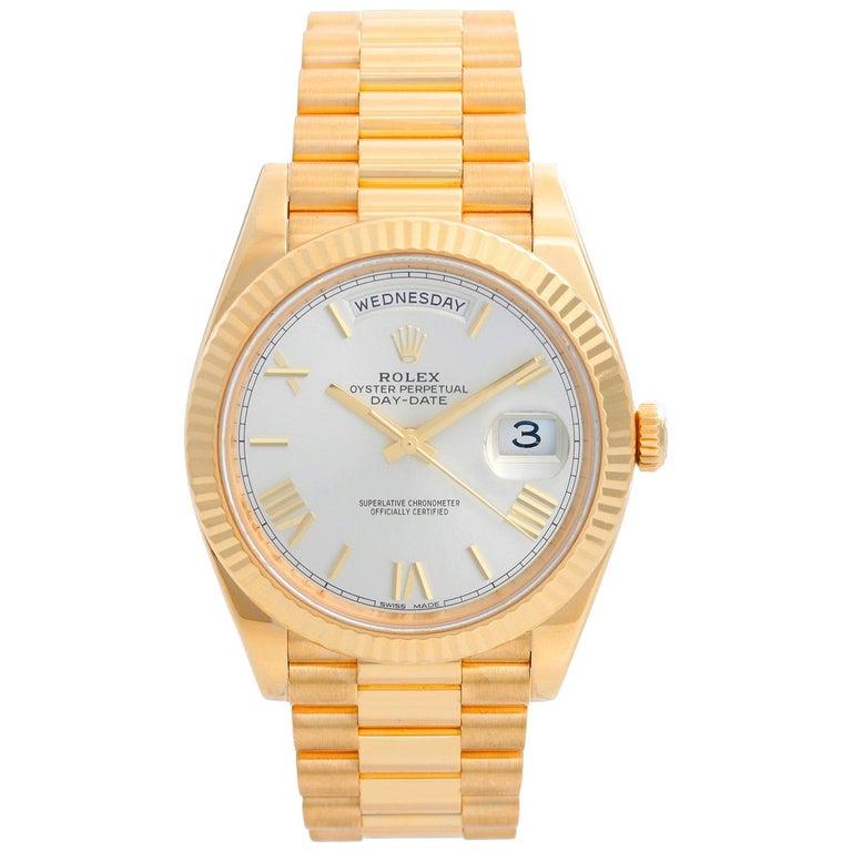 Rolex Day-Date II President 18 Karat Yellow Gold Men's Watch 228238 For Sale