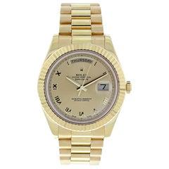 Rolex Day-Date II President 218238 18 Karat Yellow Gold Men's Watch