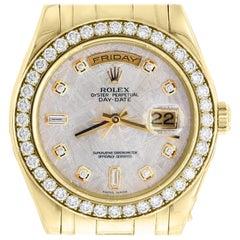 Rolex Day-Date Masterpiece 18 Karat Yellow Gold Watch Meteorite Diamond Dial