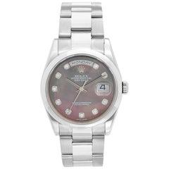 Rolex Day-Date Men's 18 Karat Gold Watch Tahitian Mother of Pearl Dial 118209